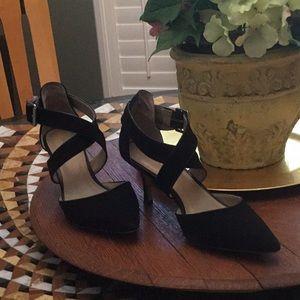 Black shade strappy  low heels